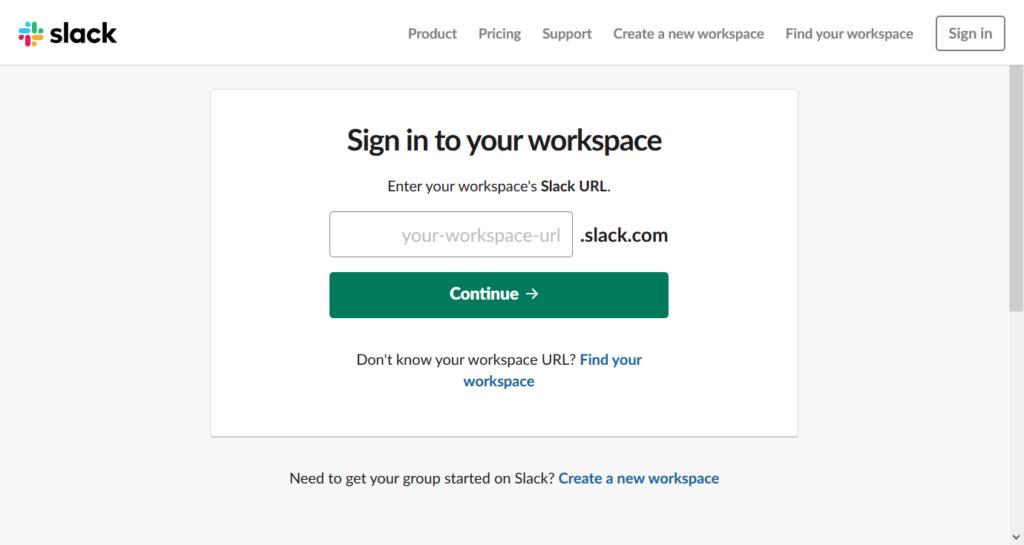 Sign in to Slack.
