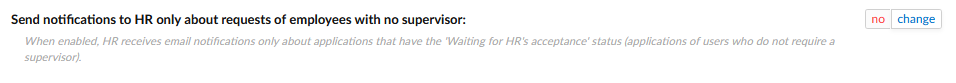 """Enabling the option of receiving notifications for applications with the status """"Waiting for HR's acceptance""""."""