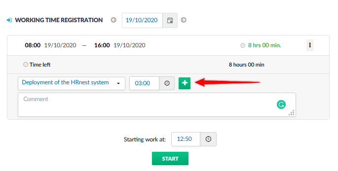 Approving and adding working hours devoted to a given project.