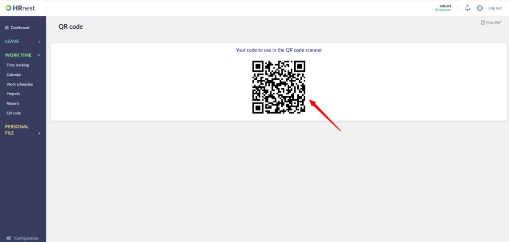 Individual QR code.