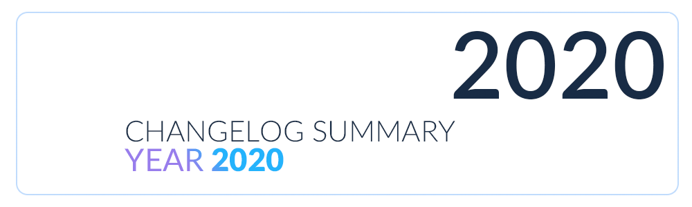 changelog summary 2020