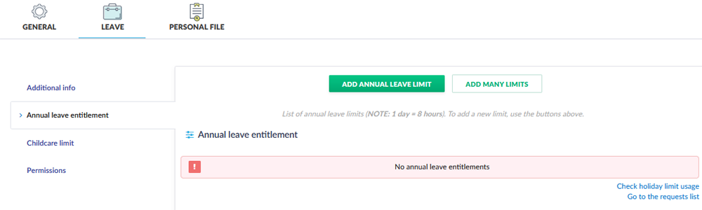 important change to leave limits