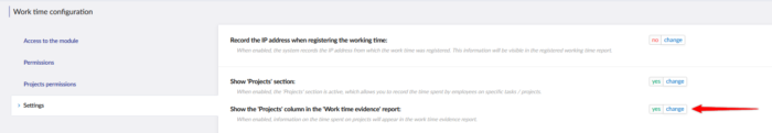 Enabling Projects view in Timesheet report.