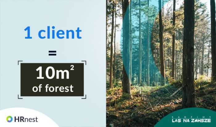 Each new customer is 10 square meters of planted forest.